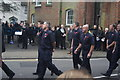 TQ6794 : View of veterans marching in the Remembrance Sunday Service on Billericay High Street #3 by Robert Lamb