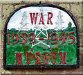 TG2502 : Plaque on former guardhouse by Evelyn Simak
