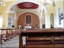 J3652 : The interior of St Patrick's Catholic Church, Ballynahinch by Eric Jones