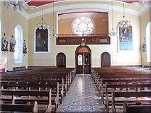 J3652 : The nave of St Patrick's Catholic Church, Ballynahinch by Eric Jones