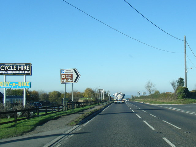 A171 at Hawsker Lane junction by Colin Pyle