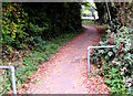 SO8402 : Cycleway and footpath north from Station Road, Woodchester by Jaggery
