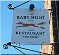 NZ2019 : Sign for the Raby Hunt Inn, Summerhouse by JThomas