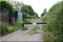 NY3853 : Track from B5299 alongside Carlisle Crematorium by Roger Templeman