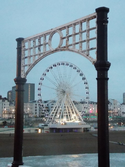 Brighton: the Wheel from the pier