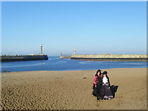 NZ8911 : Whitby Harbour entrance, day after Halloween by Colin Pyle