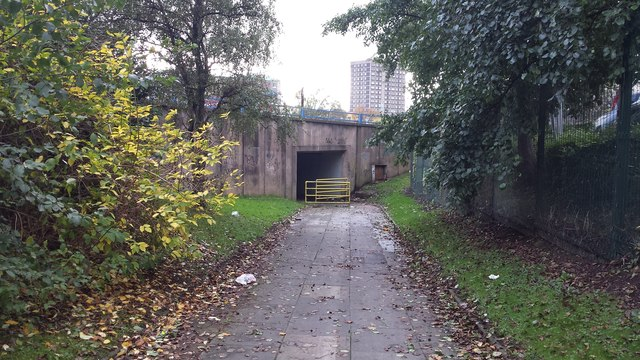 Path to underpass near Pendleton Police Station