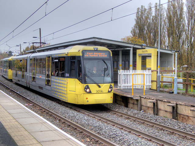 Bombardier Tram at Radcliffe