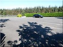 J3652 : Middle level car park of St Patrick's Catholic Church, Ballynahinch by Eric Jones