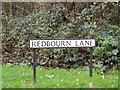 TL1313 : Redbourn Lane sign by Adrian Cable