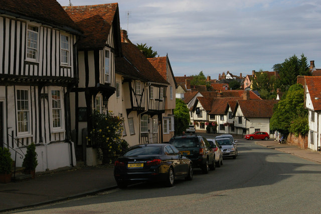 Lavenham: looking down Church Street towards the centre