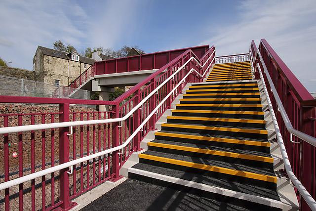 A footbridge over the Borders Railway in Galashiels