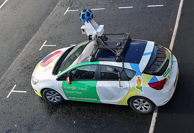 A Google Street View car in Galashiels