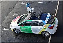 NT4836 : A Google Street View car in Galashiels by Walter Baxter