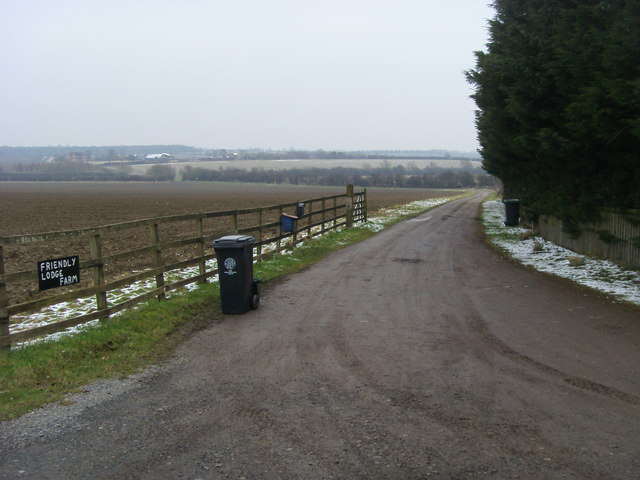 Entrance to Friendly Lodge Farm