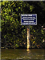 TG3116 : Sign at the Entrance to Wroxham Broad by David Dixon
