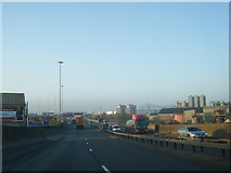 NZ5020 : A66 westbound heads into Middlesbrough by Colin Pyle