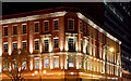 J3474 : Arnott House (floodlit), Belfast (November 2015) by Albert Bridge