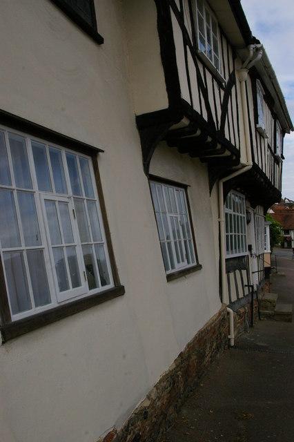 Lavenham: crooked houses on Church Street
