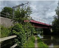 SP6165 : Buckby Railway Bridge crossing the Grand Union Canal by Mat Fascione