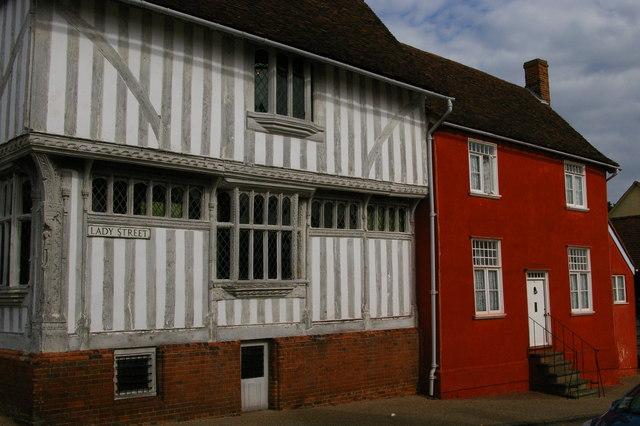 Lavenham: top end of Lady Street