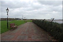 NS4870 : Walkway beside the River Clyde by Billy McCrorie