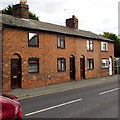 SJ5441 : Row of four houses, Station Road, Whitchurch, Shropshire by Jaggery