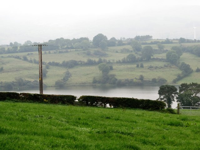 View across pasture land to Begny Lake