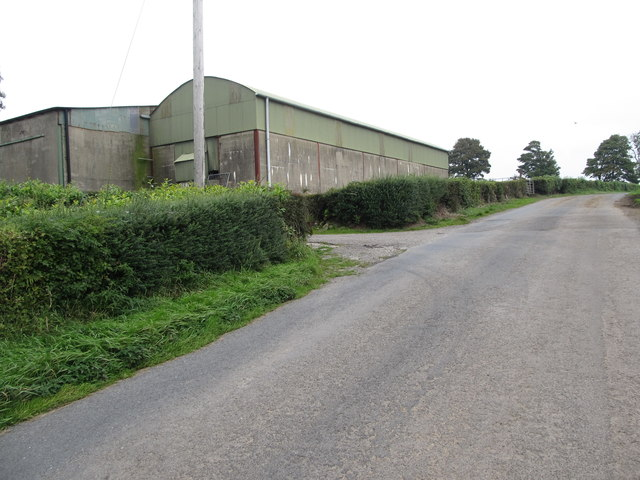 Farm sheds at the highest point on Begny Hill Road