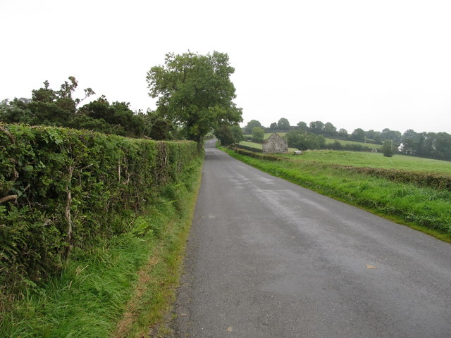 View east along Begny Hill Road