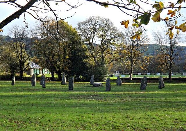 Llanrwst modern Eisteddfod stone circle