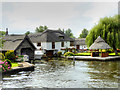 TG3117 : Thatched Housing, River Bure near Wroxham by David Dixon