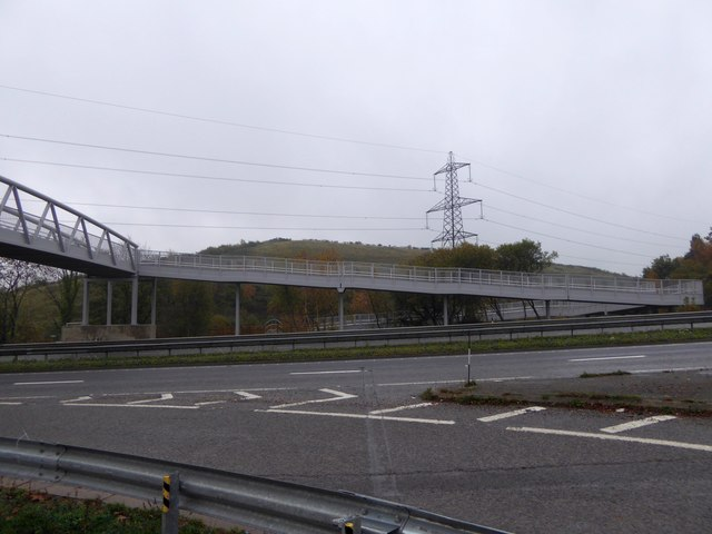 A38 and bridge for riders and walkers