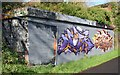 J3470 : Graffiti, Lagan towpath, Stranmillis, Belfast (November 2015) by Albert Bridge