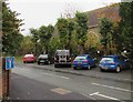 SO5175 : Cars parked on the Poyner Road pavement, Ludlow by Jaggery