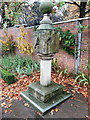 SK4392 : Sundial in the walled garden, Clifton Park, Rotherham by Humphrey Bolton