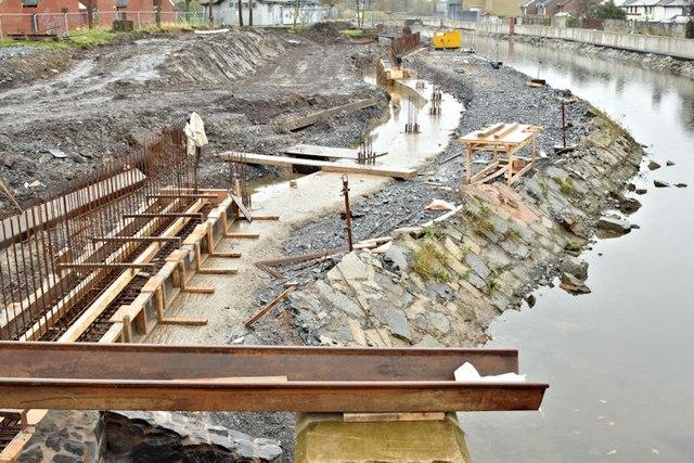 Connswater path works, Belfast - November 2015(5)
