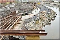 J3674 : Connswater path works, Belfast - November 2015(5) by Albert Bridge