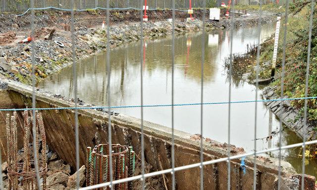 Connswater path works, Belfast - November 2015(7)