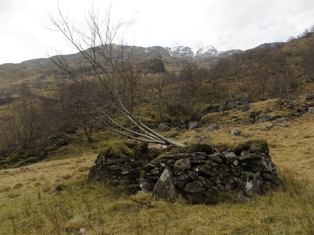 """The """"Ruin"""" by the Upper Reaches of the River Carnach"""
