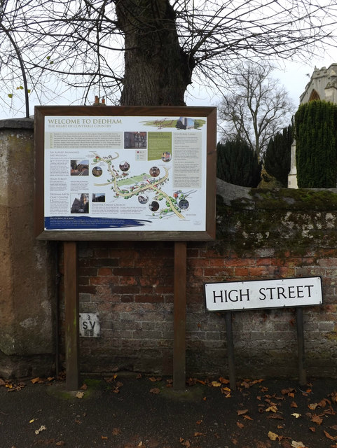 Dedham Information Board & High Street sign