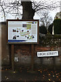 TM0533 : Dedham Information Board & High Street sign by Adrian Cable