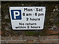 TM0533 : Parking sign on the B1029 High Street by Adrian Cable