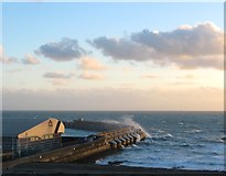 TQ3303 : Western Breakwater, Brighton Marina by Simon Carey