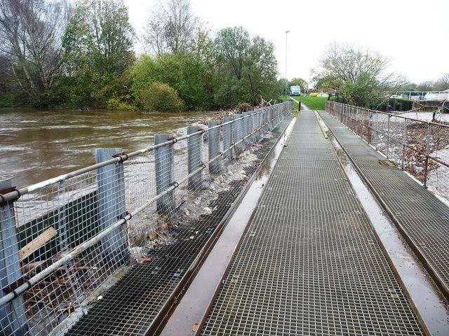 Flooded River Calder at the Trash Screen Bridge, Stanley Ferry