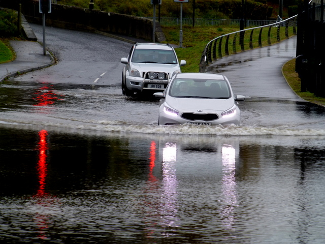 Flooded road, Omagh