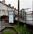 ST3089 : Grey (or silver) phonebox and bus shelter, Crindau, Newport by Jaggery