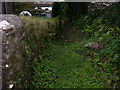 SN0904 : East Williamston - St Elidyr's Church - path by side of wall by welshbabe