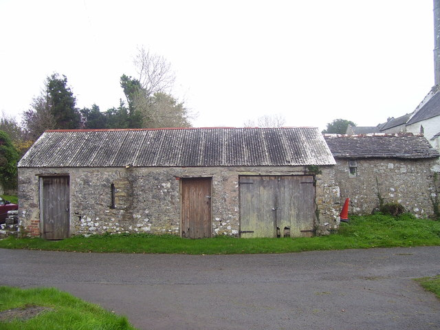 Carew Cheriton Church - building in churchyard