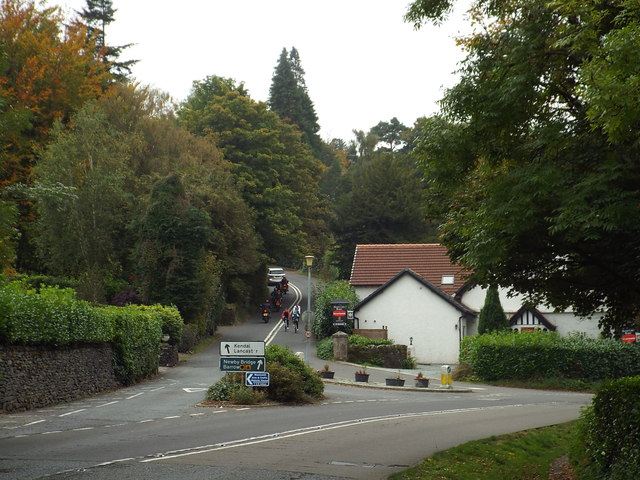 Road junction near Bowness-on-Windermere